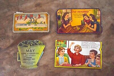 MAY COAL AND COKE Vintage Advertising Sewing Needle Books Lot of 4 RARE