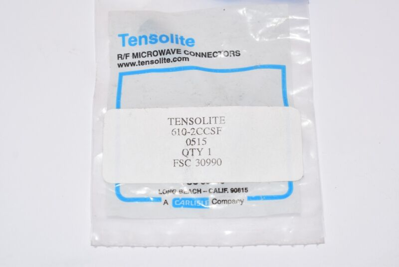 NEW Tensolite 610-2CCSF R/F Microwave Connector