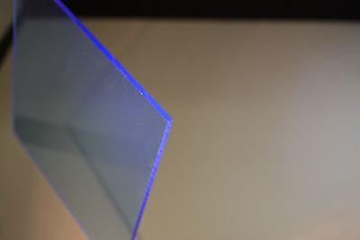 Blue Fluorescent Acrylic Plexiglass Sheet 12 X 12 X 12