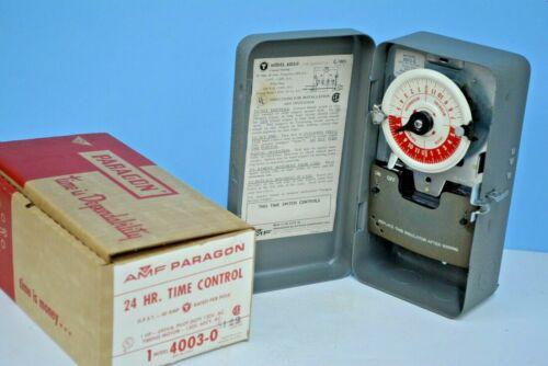 AMF Paragon ELECTRIC TIMER 24-Hour 1 HP 120V AC C-895 40A Pilot Duty 4003-0 NEW