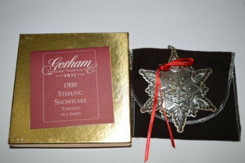Gorham Annual Sterling Snowflake Ornament 1999 Used Defect