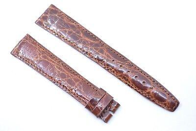 Original Gucci 17 mm Uhrenarmband Echt Kroko leder Band Braun crocodile leather