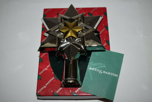 Reed & Barton Silver Plate Star Tree Topper