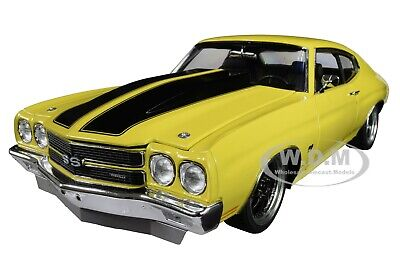 "1970 CHEVROLET CHEVELLE ""STREET FIGHTER"" YELLOW 1/18 DIECAST CAR ACME A1805515"