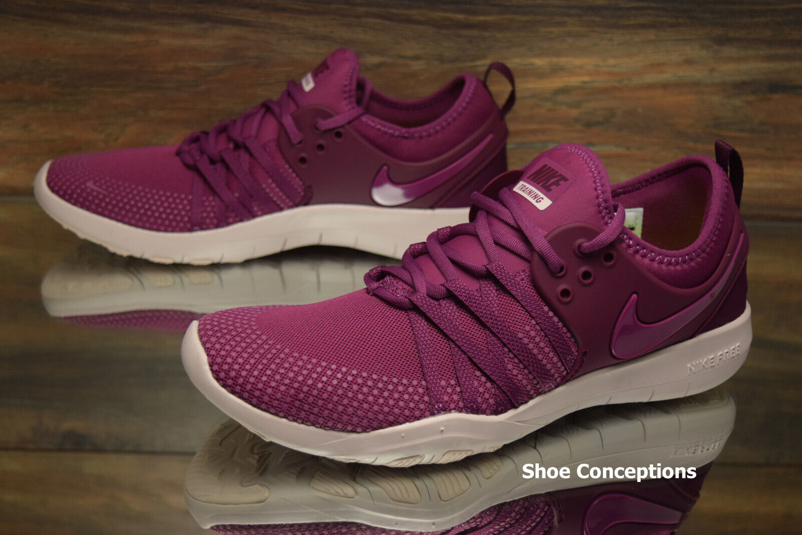 Nike Free TR 7 Purple Red 904651-603 Training Shoes Women's Multi Size NEW