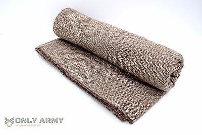 Military Pure Wool Blanket Army Bedding Tweedmill Throw Lightweight One Man