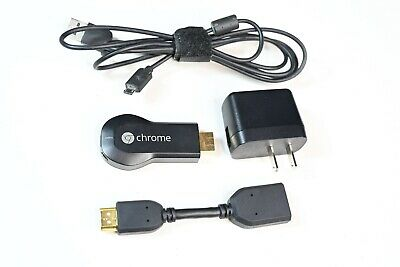 Google Chromecast 1st Generation H2G2-42 Black HDMI Media Streamer Netflix Hulu