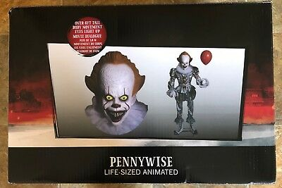 life size Halloween lifesize Pennywise IT clown prop animated Used.