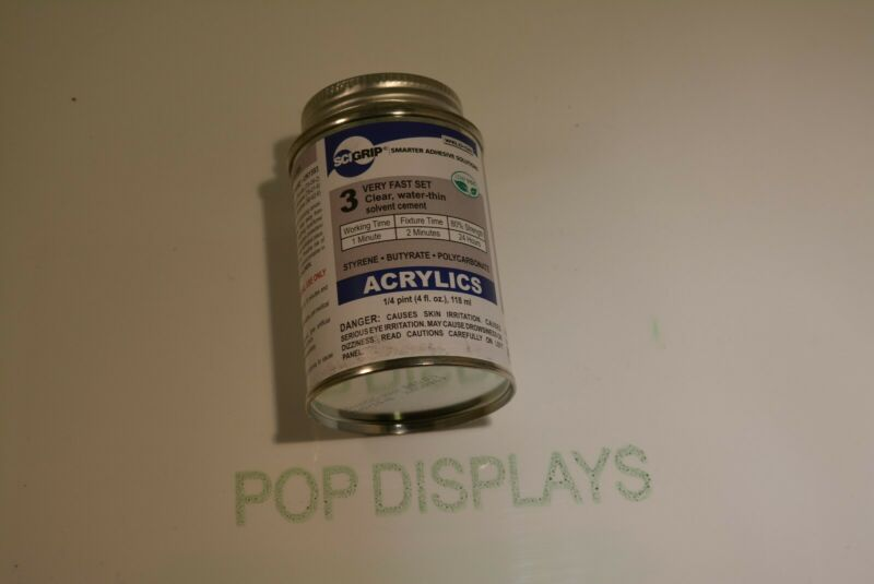 Plastic Solvent Glue Cement for Acrylic Plexiglass  Weld-on #3 NO APPLICATOR 3x