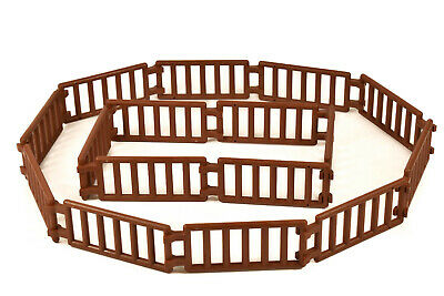 LEGO LADDER / FENCE BROWN (pack of 16) double clip castle farm animal playmobil*