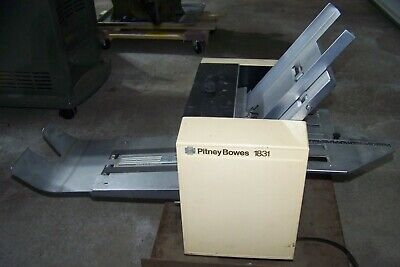Pitney Bowes 1831 Folding Machine Table Top Paper Folder Works Bindery Equipment