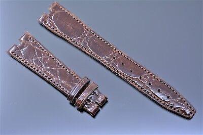 Original Gucci 18 mm Uhrenarmband Echt Kroko leder Band Braun crocodile leather