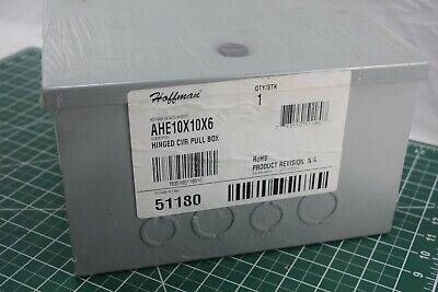 Hoffman Enclosure 10in X10 In X 6in Ahe10x10x6 Gray Hinged Pull Box Nema Type 1
