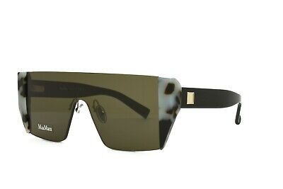 MAX MARA Sunglasses Lina II Gray Havana Shield Lens Brand (Maxmara Sunglasses)