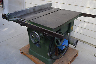 Newman Oliver K 16 Wood Table Saw 5hp Tilting Variety Arbor 3ph Wdigibrake B60