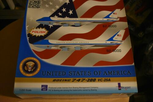 Inflight IFUSAF01P USAF VC-25A Air Force One B747-2 82-8000 Diecast 1/200 Model