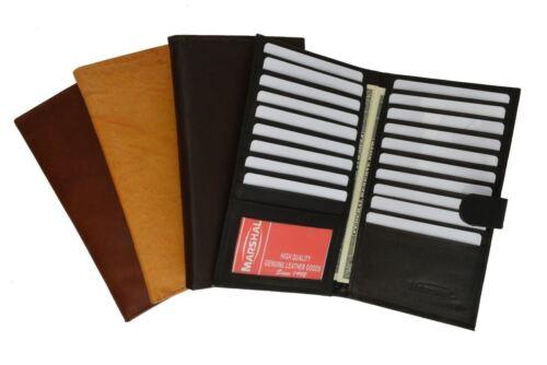 Genuine Leather Credit Card Holder Wallet 19 Card Slots + 1