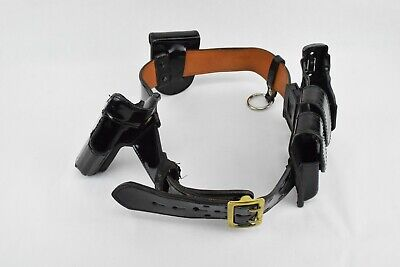Gould & Goodrich  Police Belt with Accessories Black/Brown Gold Buckle Belt Accessories Buckle