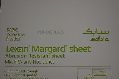 Lexan Sheet Scratch Resistant Mr-10 Polycarbonate Clear 14 X 36 X 11.625