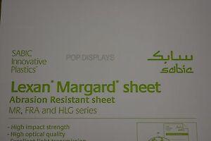 LEXAN SHEET MR-10 POLYCARBONATE MARGARD  CLEAR 1/2