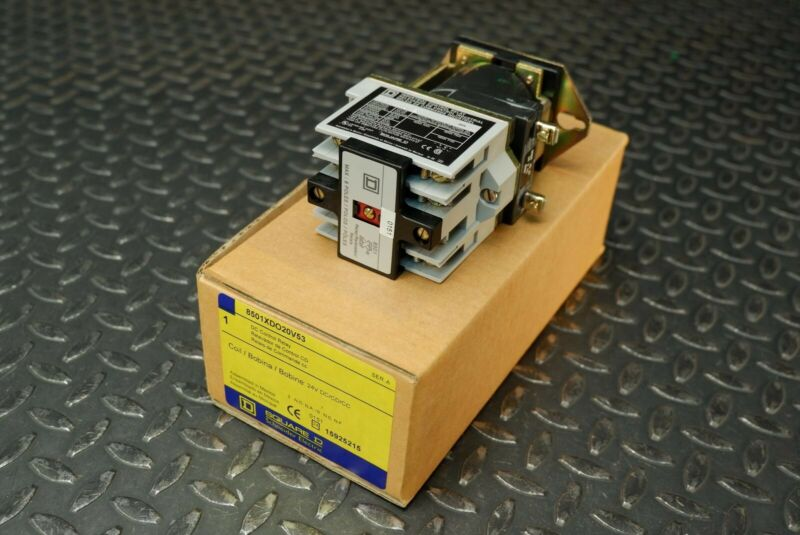 Square D 8501XDO20V53 24VDC Timing Coil Relay