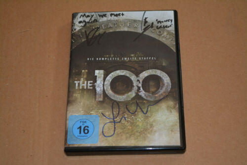 THE 100 3x CAST signed  Autogramm In Person DVD: LINDSEY MORGAN , RICHARD HARMON