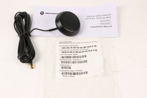 Motorola HAG4000B GPS Antenna 26 DB Gain Vehicle Mount 5M Cable ***NEW