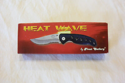 """FROST CUTLERY HEAT WAVE CLOSED LINERLOCK 4.5"""" POCKET KNIFE WITH CLIP NEW IN BOX"""