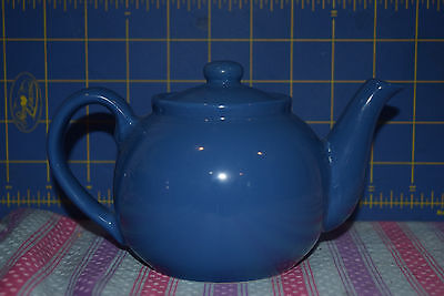 Classic Two-cup Blue Teapot - Maker Unknown