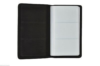 Leather 75 Cards Business Id Credit Card Holder Book Case Organizer