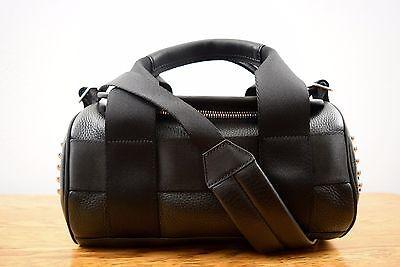 Alexander Wang Small Black Silver Studded Duffle Handbag Bag NWT$1095 (Alexander Wang Duffle)