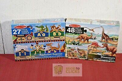 Melissa & Doug Alphabet Express & Dinosaurs Jumbo Floor Puzzle  Melissa & Doug Toys Dinosaur Floor Puzzle