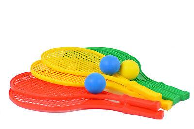Softtennis Beach Softball Tennis Spiel Set für Kinder 2 Schläger 43cm 1 Ball M