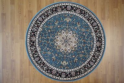 5'10 ft x 5'10 ft  ROUND Traditional Turkish Machine Made Area Rug  ()