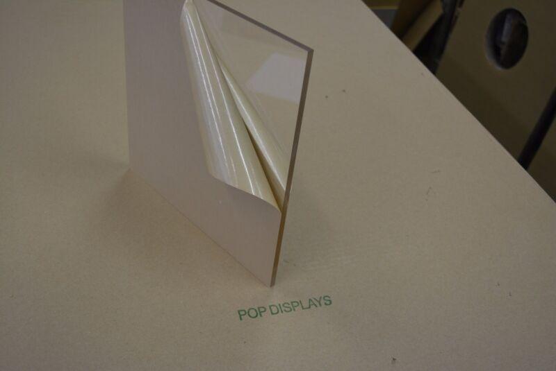 "Clear Acrylic Plexiglass  1/8"" x 7"" x 11"" Plastic Sheet"