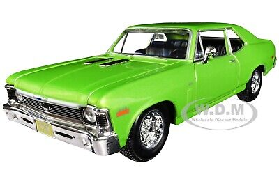 1970 CHEVROLET NOVA SS METALLIC GREEN 1/24 DIECAST MODEL CAR BY MAISTO -