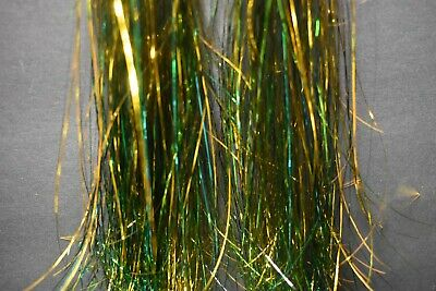 FINE Hank GOLD HOLOGRAPHIC Strands FLASHABOU Tinsel Fly Flash Fly Tying