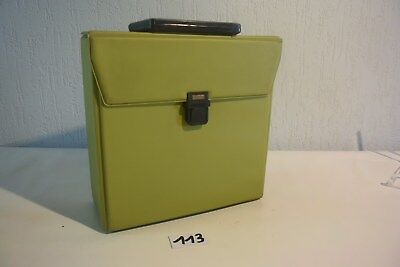 C113 Petit sac ou cartable vintage vert