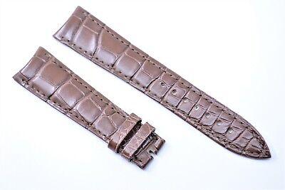 Original Ulysse Nardin Uhren Armband 20 mm Echt Kroko Braun