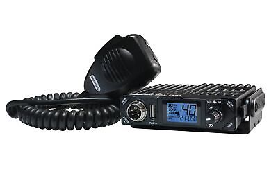 President Bill FCC 40 Channel CB Radio AM 12v 7 Color LCD Compact Off-Road UTV