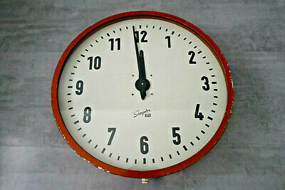 Jumbo Clock factory wall Bauhaus midcentury modern Industrial Simplex