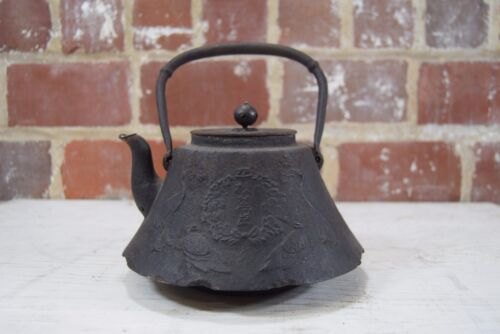 Antique 19th Century Japanese Tetsubin Iron Teapot Tea Kettle