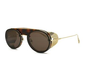 MAX MARA Sunglasses Side Shield Gold Brown Briseis DM2 Brown Brand New (Sunglasses Gold Sides)