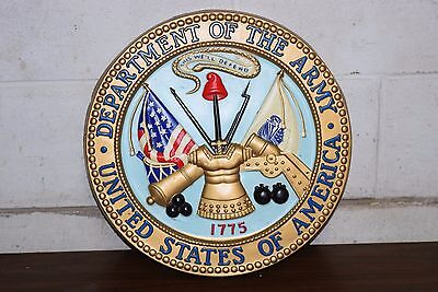 """Vintage 14"""" U.S Department of the Army, United States of America Wall Plaque"""
