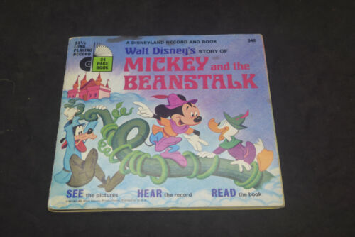 Disney Read Along Book & Record Mickey and the Beanstalk 1970