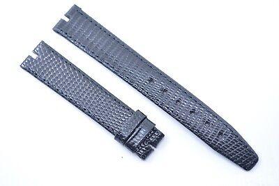 Original Gucci 16 mm Uhrenarmband Hadley Roma Echt Eidechse leder Black leather