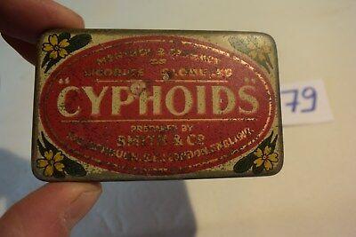 C79 Très ancienne boite en métal Cyphoids