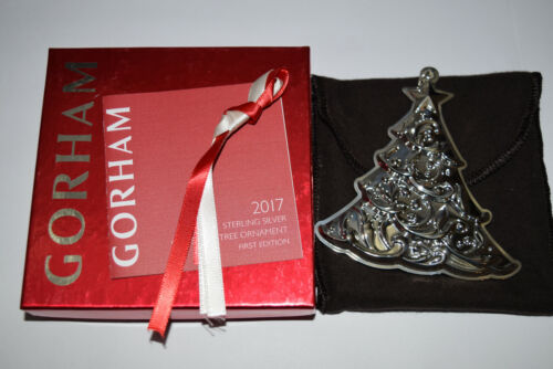 Gorham Annual Sterling Christmas Tree Ornament 2017 Used 1st Edition