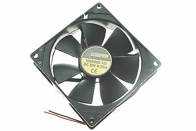 """NEW XSCORPION SMALL 5"""" SQUARE CAR STEREO AMPLIFIER COMPONENT COOLING FAN AMP"""