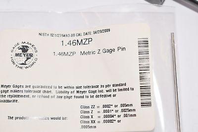 New Meyer Gage 1.46mzp Plus Z Gage Pin 1.46 Mm
